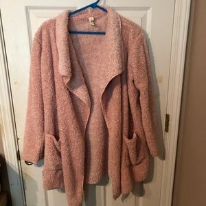 Hue open front jacket